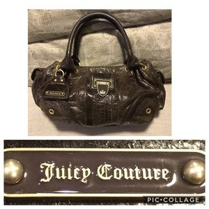 Juicy Couture Distress Small Brown Leather Bag